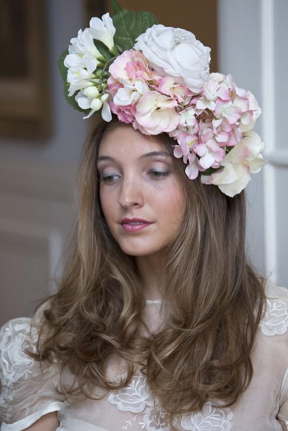 Tocado flores novia