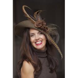 Sombrero fantasía plumas