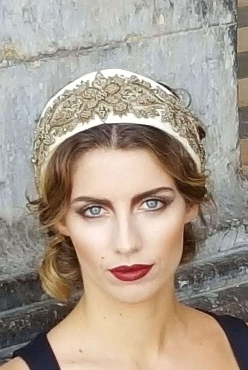 Corona tiara bodas con estilo
