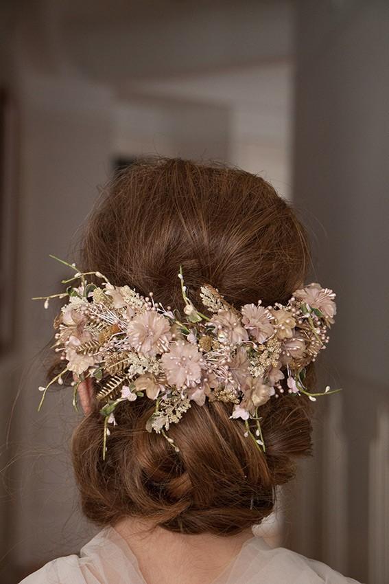 Flores teñidas artesanalmente