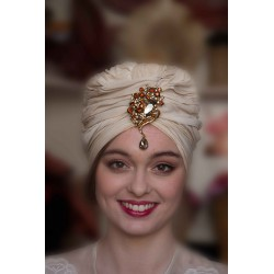 Turbante Vintage en seda natural