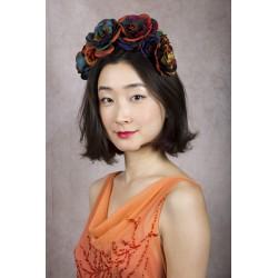 Tiara de flores de seda